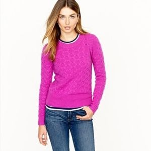 J Crew Purple angora honeycomb sweater, M